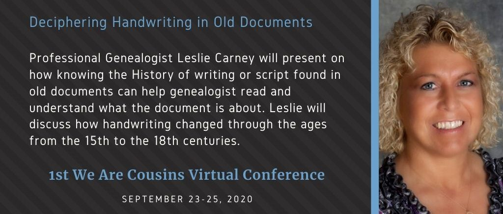 Deciphering Handwriting in Old Documents - Leslie Carney