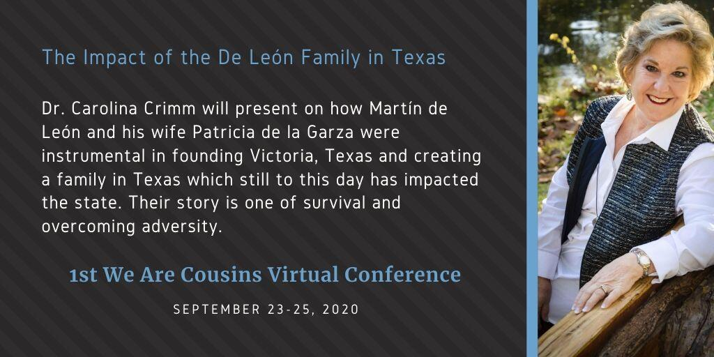 The Impact of the De León Family in Texas - Dr. Carolina Crimm